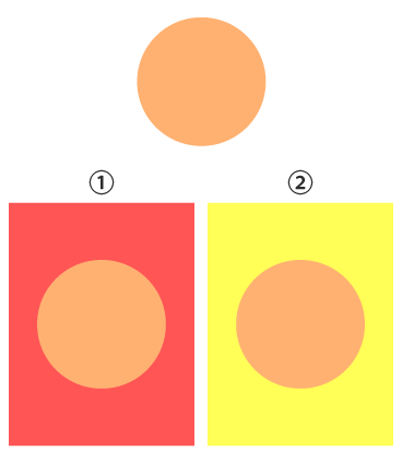 色相の対比